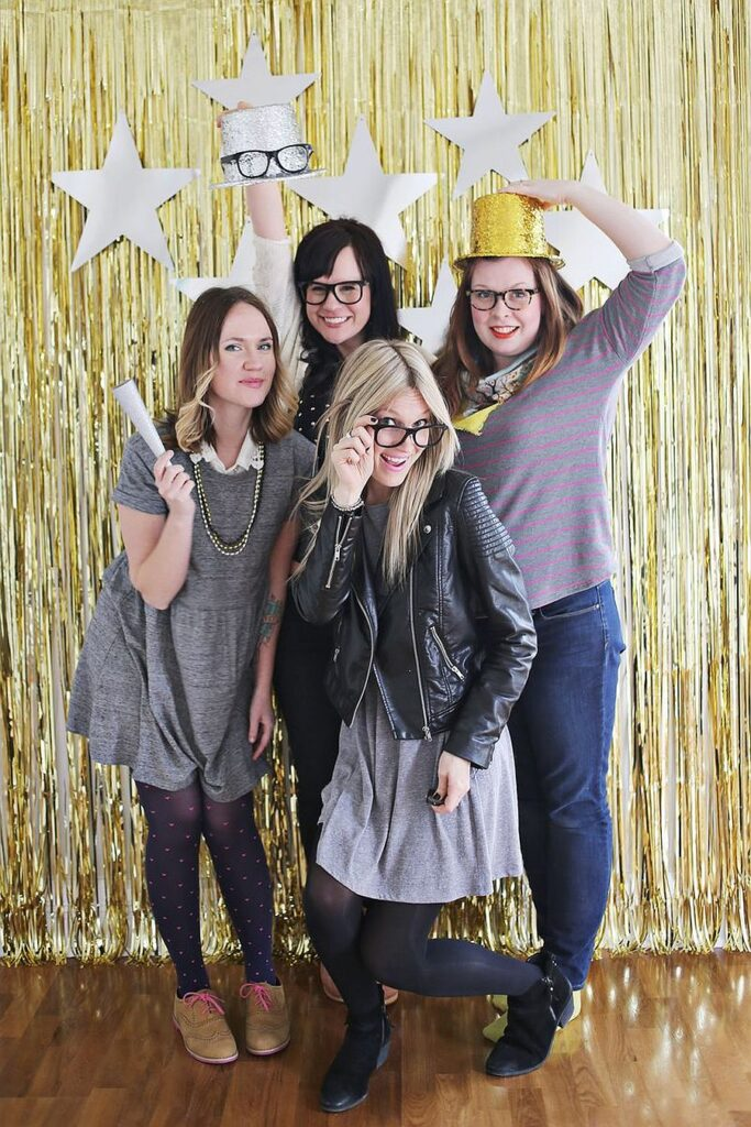 Create New Year Photo booth